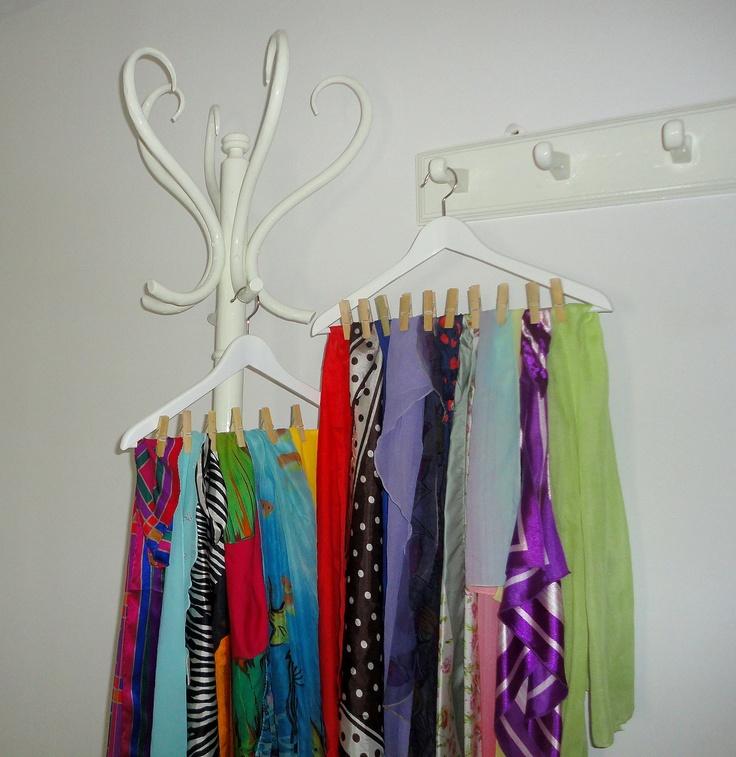 organiser les écharpes