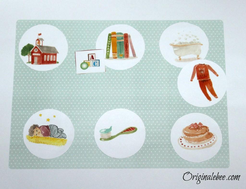 La routine du soir en images (enfant de 2 ans)