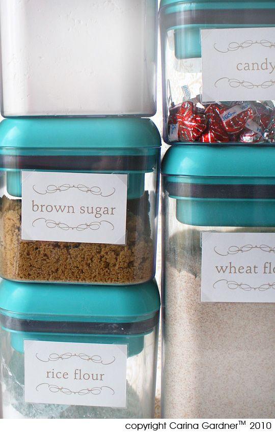 etiquettes pour les condiments