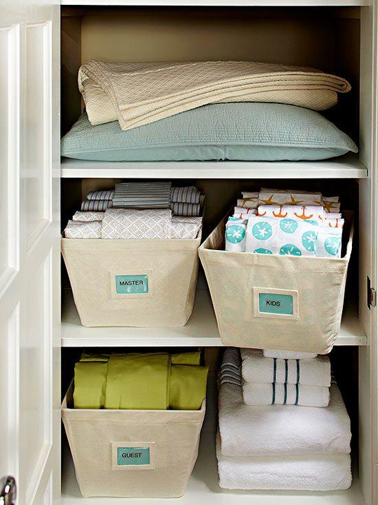 etiquettes pour organiser linge de maison