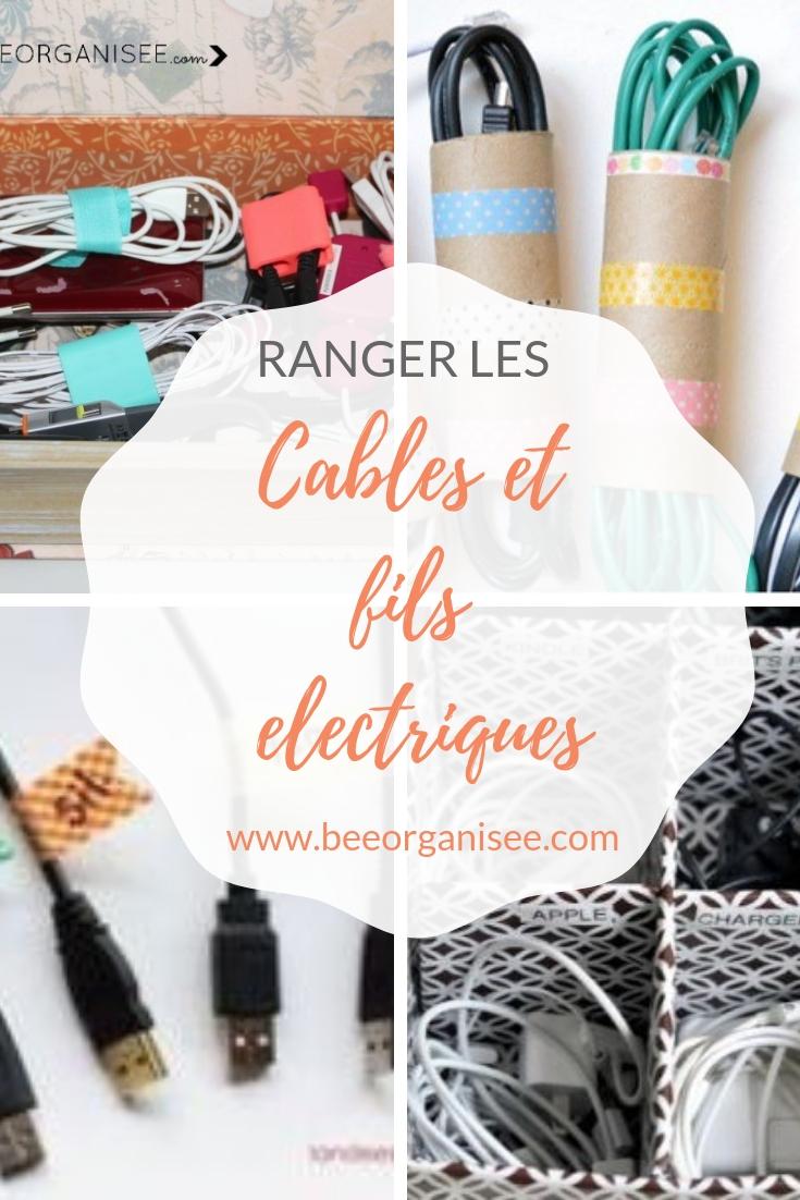 ranger les cables et fils électriques
