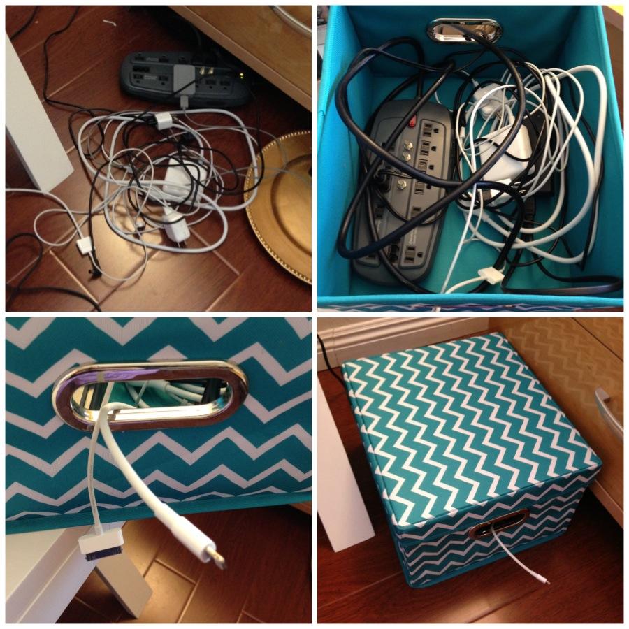 ranger ses fils électriques dans une boite