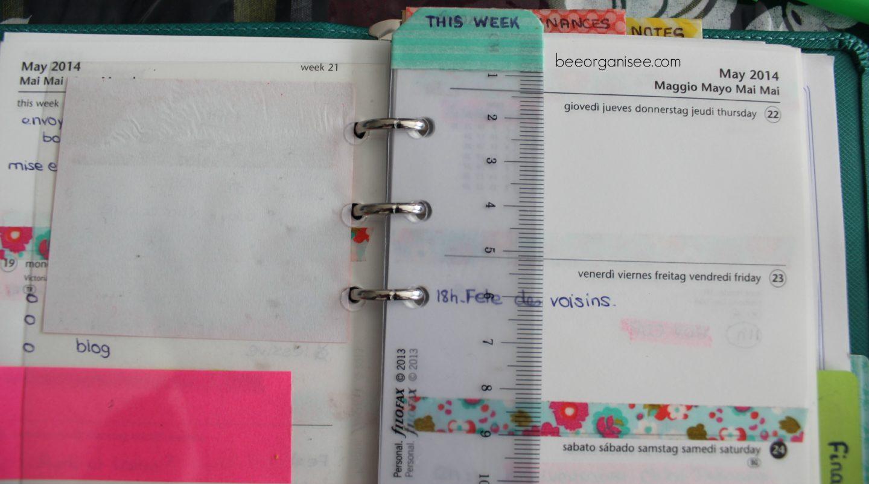 ma semaine dans mon filofax