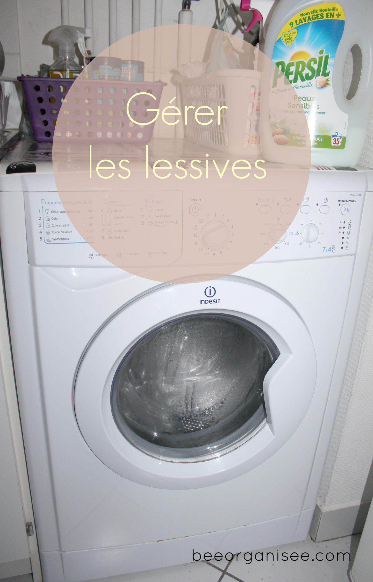 4 méthodes pour gérer les lessives