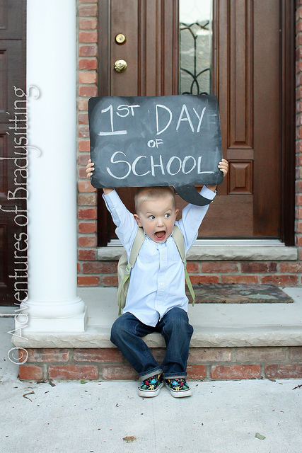 photo premier jour d'école