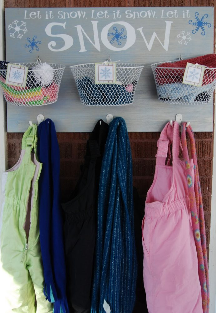 organiser les accessoires de l'hiver
