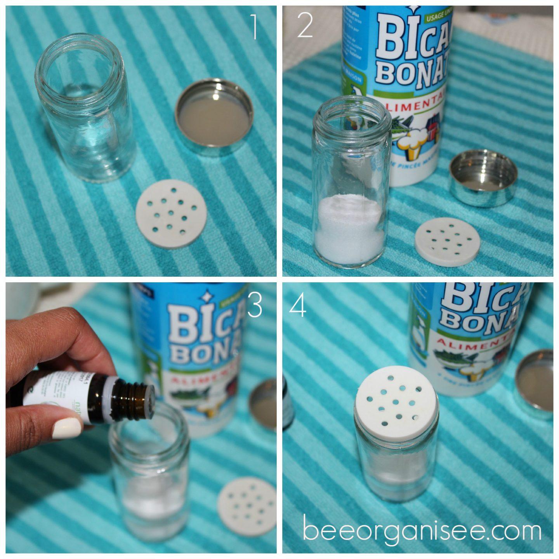 desodorisant au bicarbonate et huiles essentielles