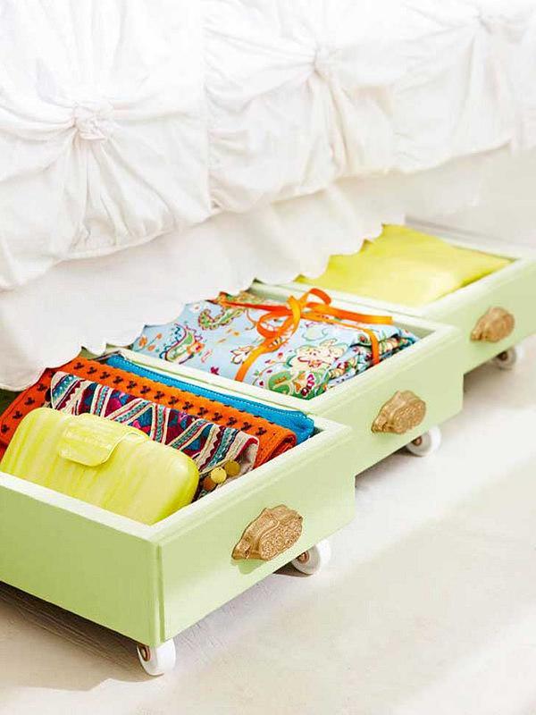 tiroir sous le lit