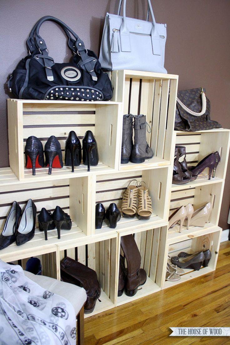 optimiser le rangement des chaussures. Black Bedroom Furniture Sets. Home Design Ideas