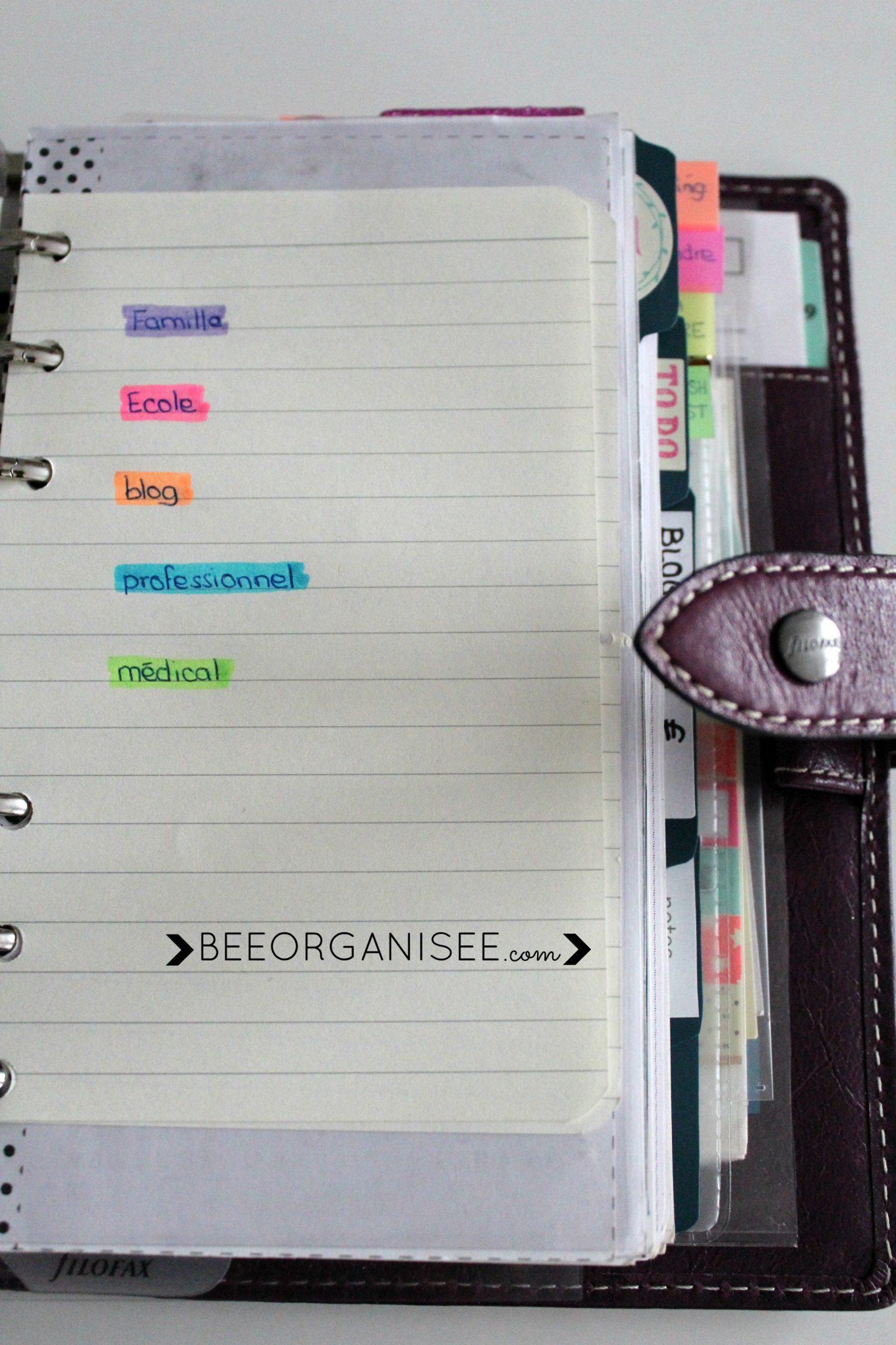 mettre en place un code couleur dans son agenda