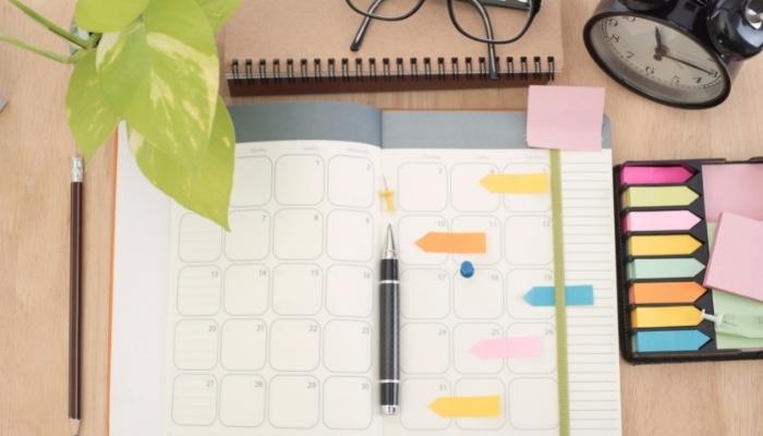 préparer son agenda pour être efficace