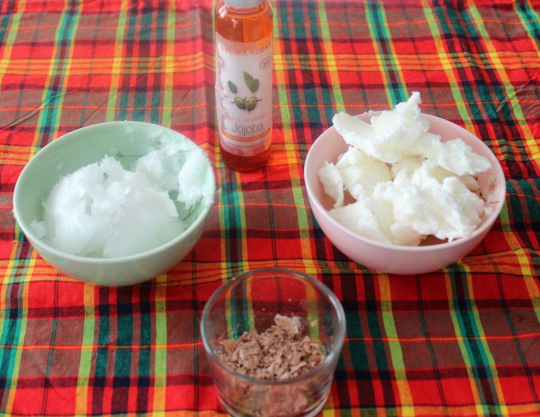ingrédients pour un beurre corporel fait-maison