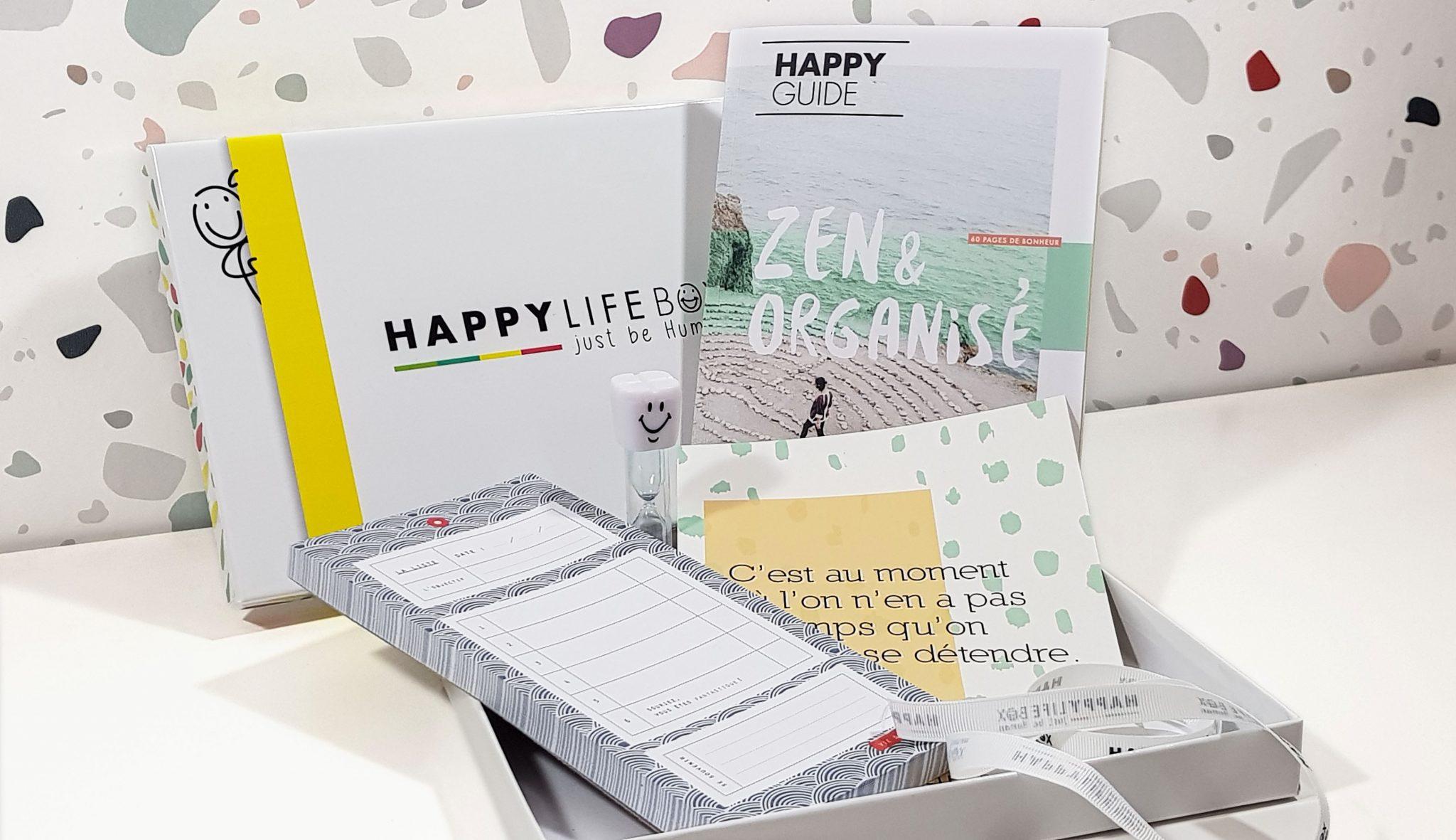 La Happy Life box de Mai 2018 sur le thème Zen et Organisé