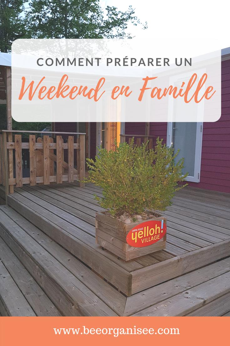 planifier un weekend en famille