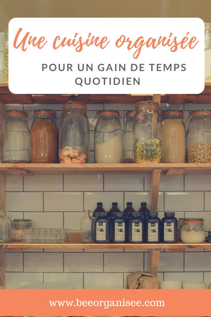 une cuisine organisée pour un gain de temps quotidien