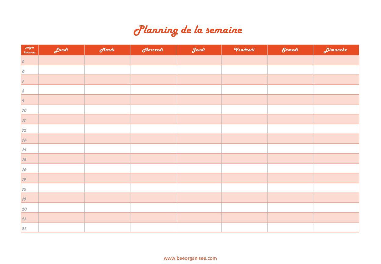 trame de planning à télécharger sur le blog